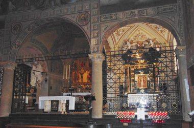 Ponte Nossa - Bergamo - santuario della Madonna delle Lacrime, -dipinti di Giovanni Cavalleri